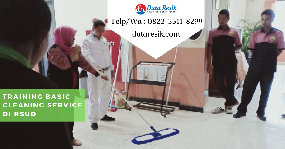 Training Basic Cleanng Service di RSUD
