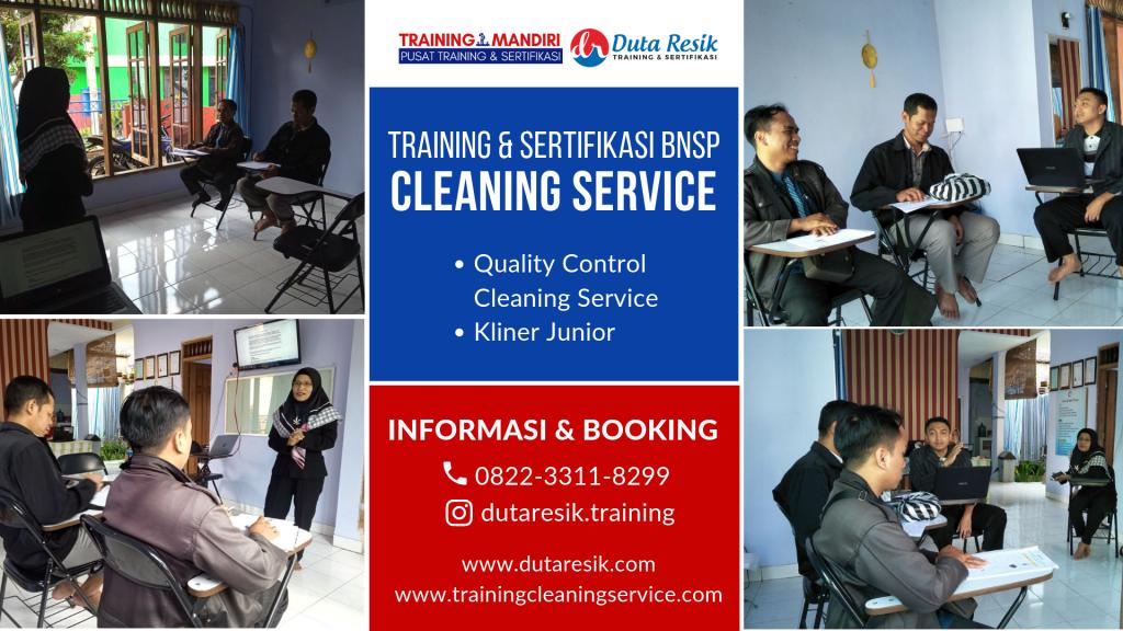Training Cleaning Service & Sertifikasi BNSP
