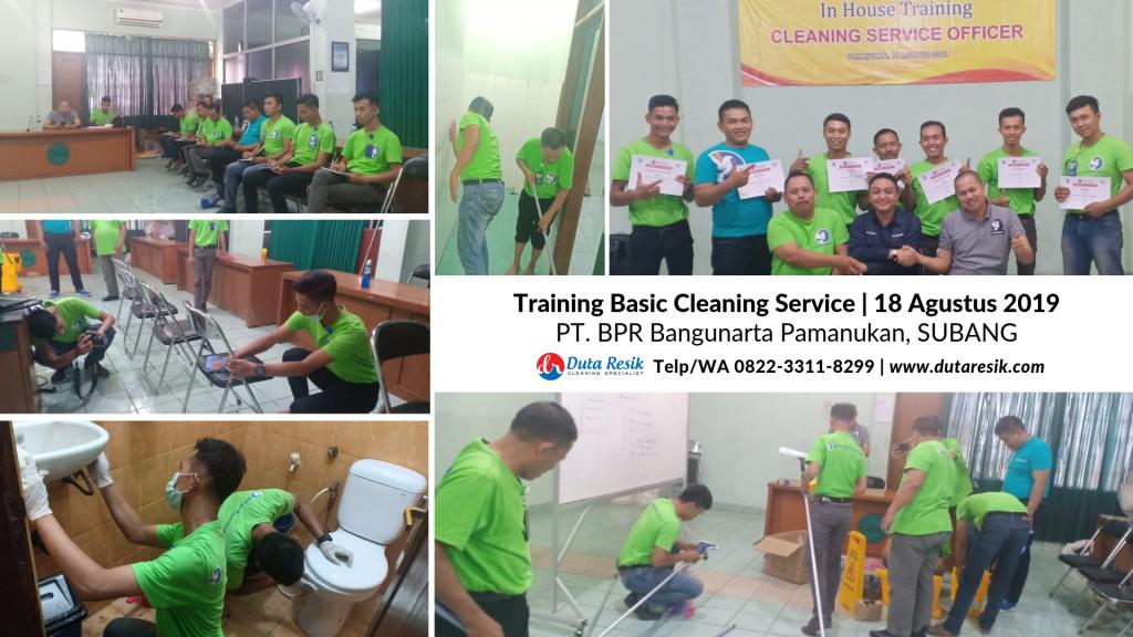 Training Basic Cleaning Service di PT. BPR Bangunarta Subang