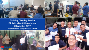 Training Cleaning Service PT Mitra Multi Usaha Imani
