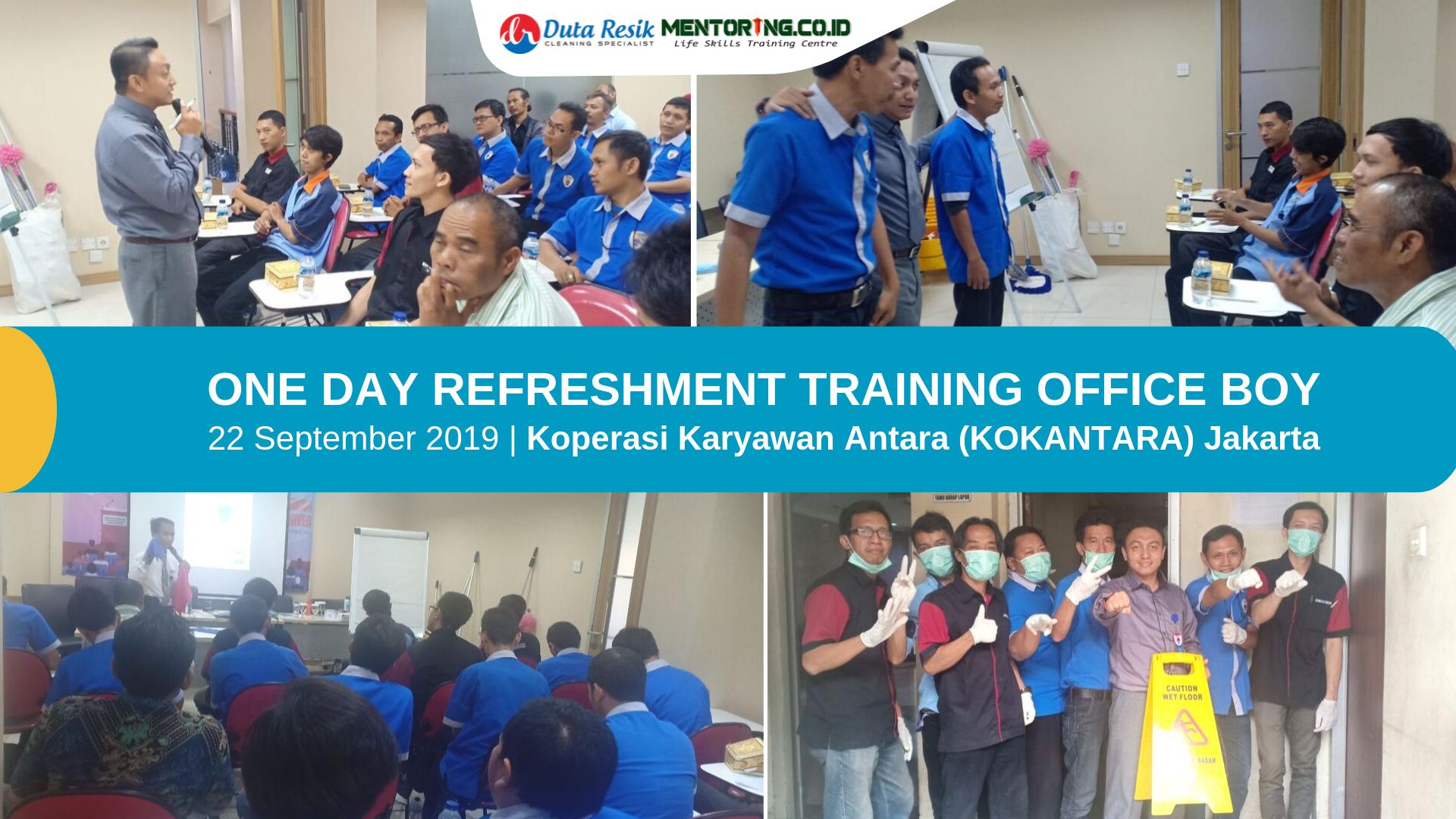 Refreshment Training office boy Kokantara Jakarta