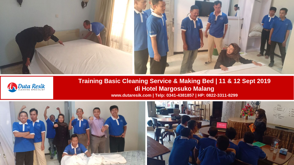 Training Basic Cleaning Service & Making Bed di Hotel Margosuko Malang