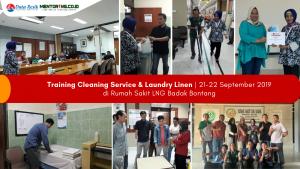 Training Cleaning & Laundry di RS LNG Badak Bontang