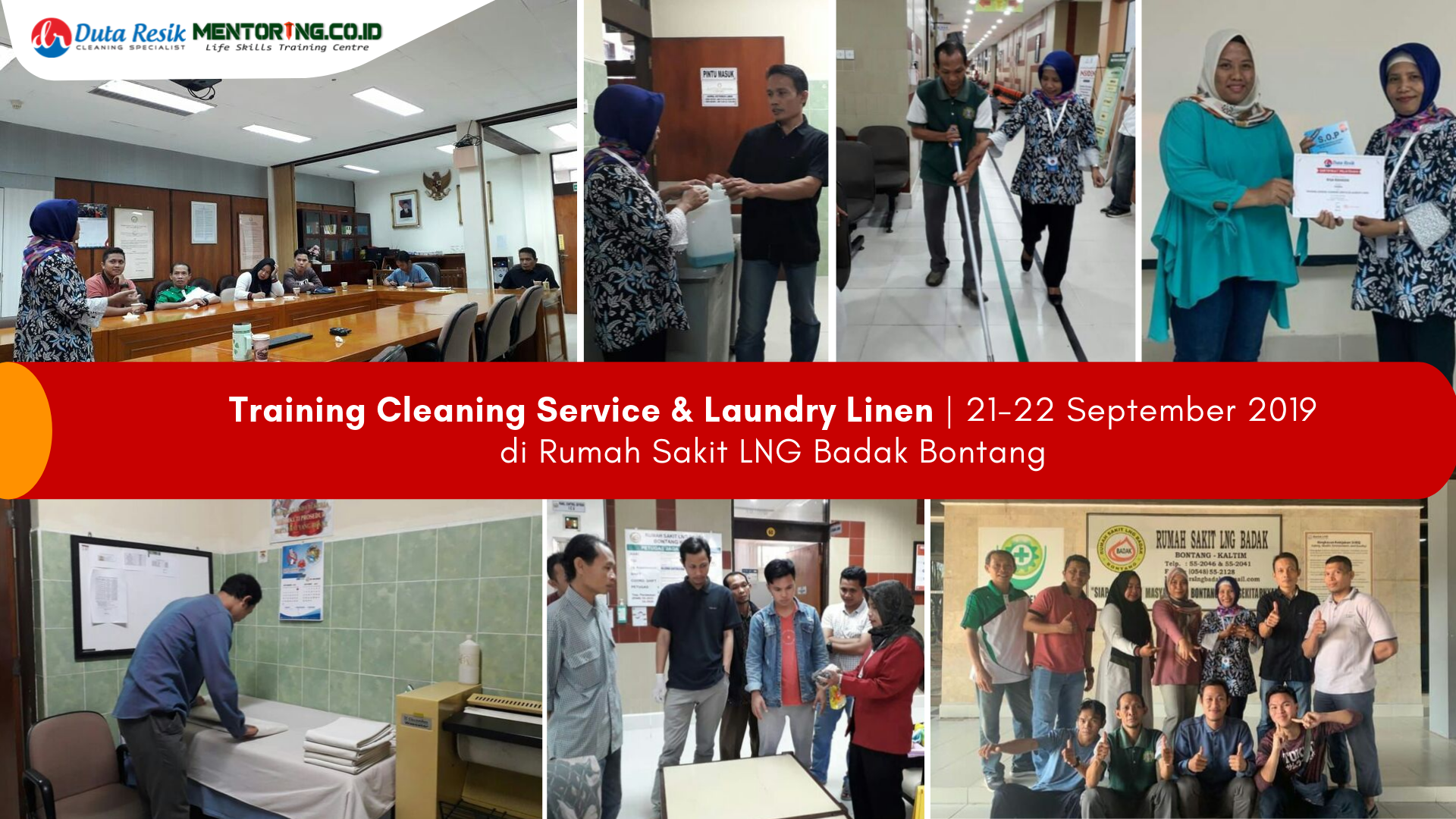 Training Cleaning & Laundry di RS LNG Badak Bontang