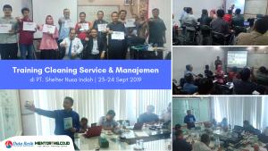 Training Cleaning Service & Managemen PT. Shelter Nusa Indah