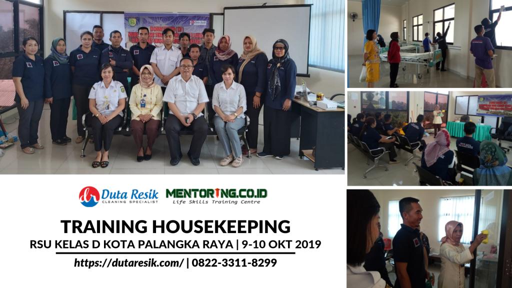 Training Housekeeping di RSU Kelas D Kota Palangka Raya