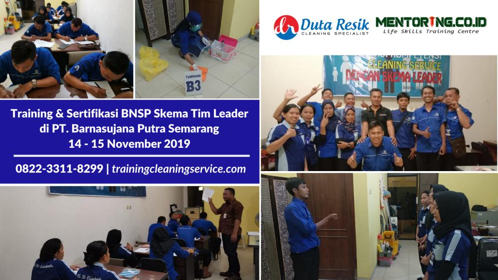 training & sertifikasi BNSP Tim Leader Cleaning Service Semarang