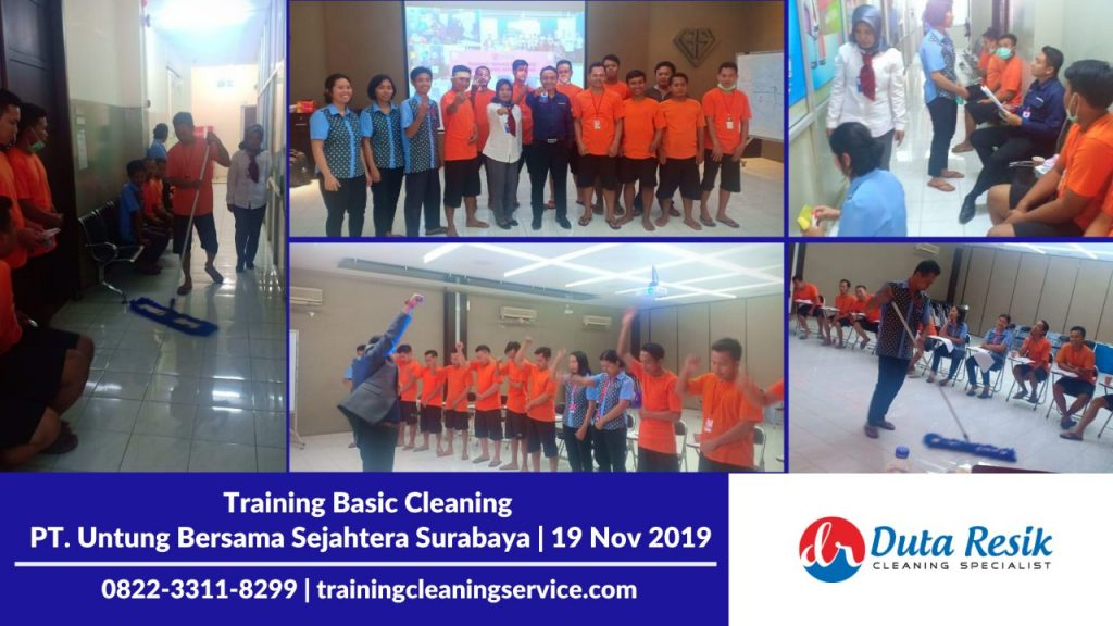 Training Basic Cleaning Service di PT. UBS Surabaya