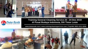 Training General Cleaning Service di Pusat Budaya Indonesia, Timor Leste