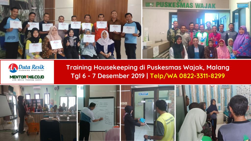 Training Housekeeping di Puskesmas Wajak Malang