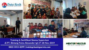 Training & Sertifikasi Skema Supervisor PT. Bintang Putra Alexander Jakarta