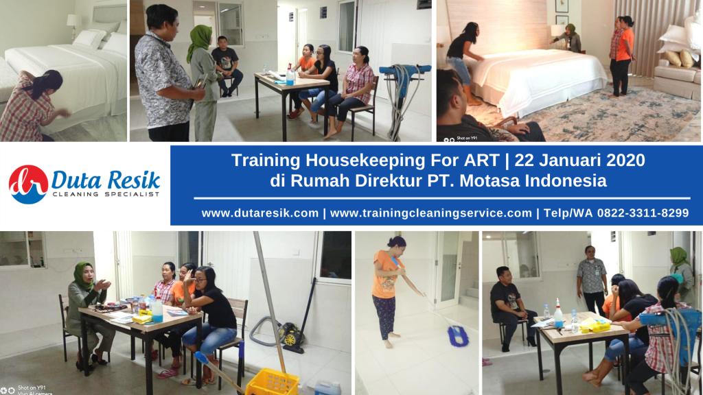 Training For ART di Rumah Direktur PT. Motasa Indonesia