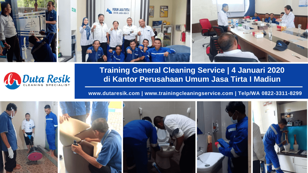 Training General Cleaning Service Kantor Jasa Tirta Mandiun