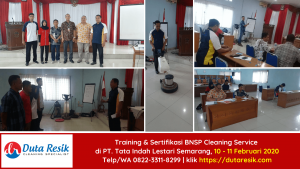 Training & Sertifikasi BNSP Cleaning PT Tata Indah Lestari Semarang
