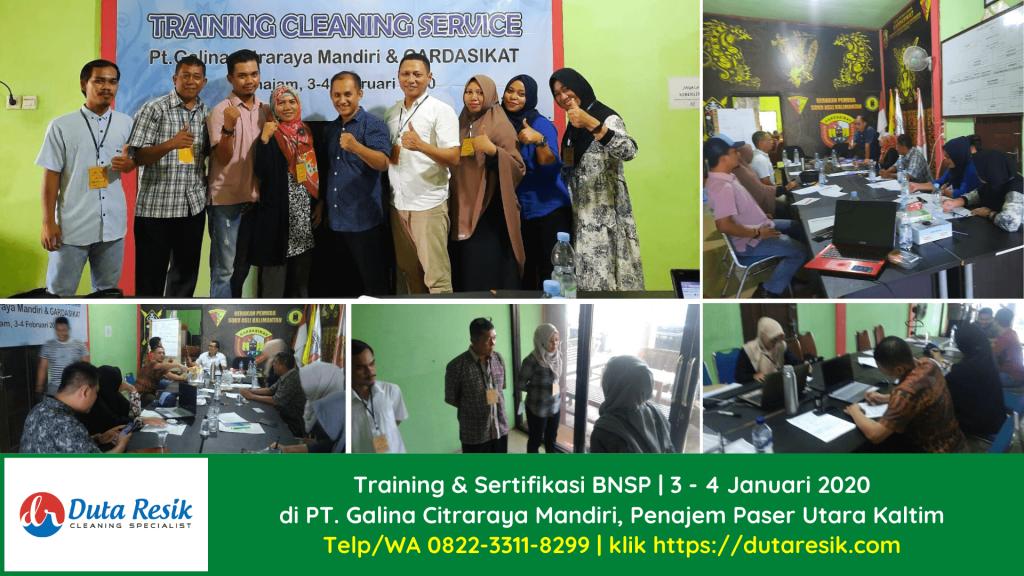 Training & Sertifikasi BNSP Cleaning Service PT Galina