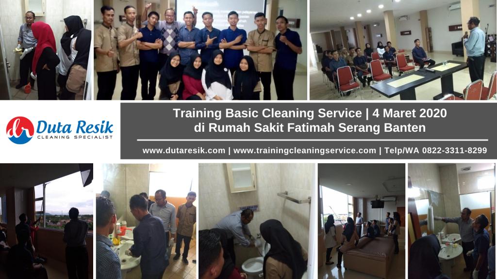 Training Basic Cleaning Service RS Fatimah Serang