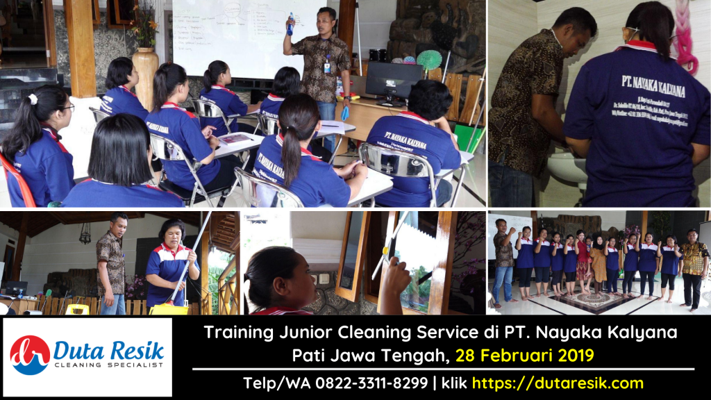 Training Junior Cleaning Service di PT. Nayaka Kalyana Jawa Tengah