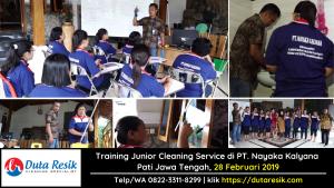 Training Junior Cleaning Service di PT. Nayaka Kalyana Jawa Tengah