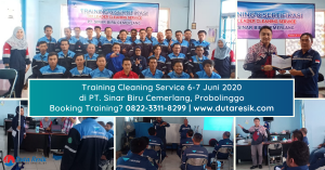Training Cleaning Service di PT. Sinar Biru Cemerlang Probolinggo
