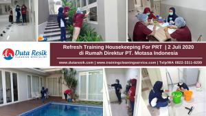 Refresh Training Housekeeping PRT PT Motasa Indonesia Surabaya