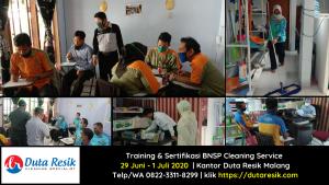 Training & Sertifikasi BNSP Cleaning Service UMM & PT Mega Karya